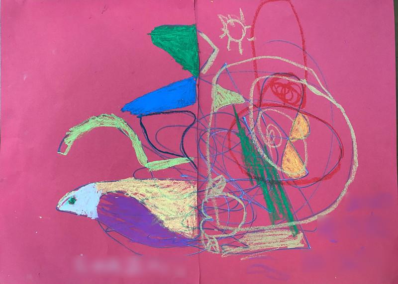 なるには園児のアート作品 201905