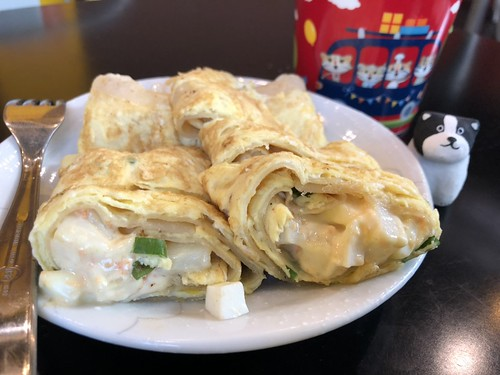 晨食貝可的薯泥蛋餅,近看還可以看到紮實的薯塊,讓人流口水