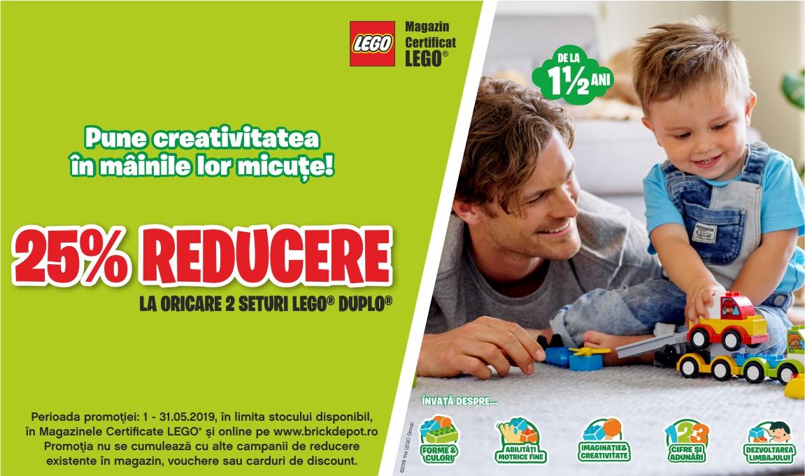 25% reducere la oricare 2 seturi LEGO® DUPLO®