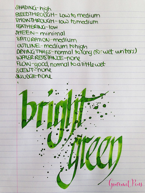 Toucan Bright Green Ink Review 5