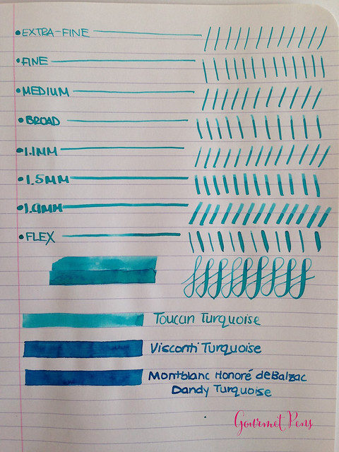Toucan Turquoise Ink Review 3