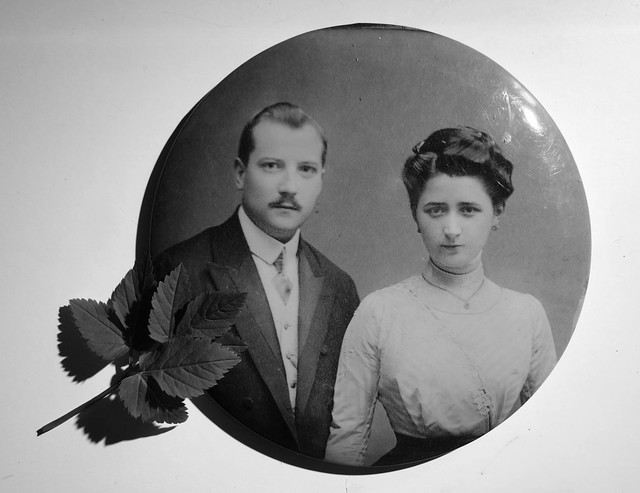 GREAT UNCLE BERTHOLD & GREAT-AUNT LUDMILLA . B/W-VERSION