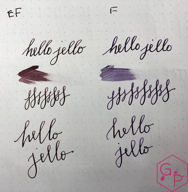 Franklin-Christoph Extra-Fine Flex Nib vs. Fine Flex Nib 6