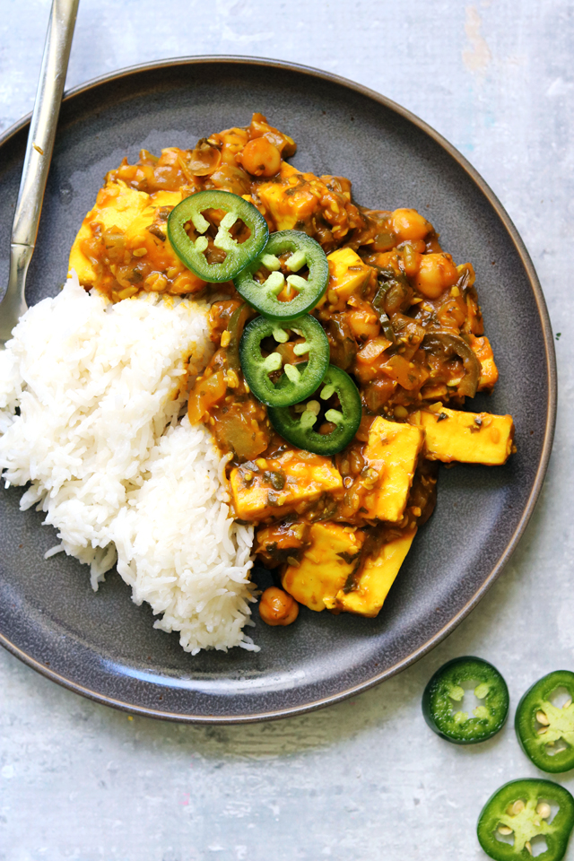 Persian Tamarind, Paneer, and Chickpea Stew