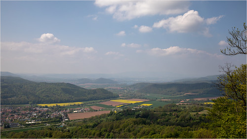 germany german formergermanborder spring wanfried lookout springtime trees bäume green bluesky canoneos5dmarkiv canonef2470mmf28liiusm blue sky yellow flower