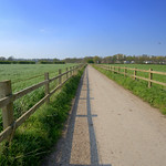 South Ribble path towards Preston