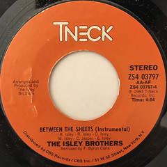THE ISLEY BROTHERS:BETWEEN THE SHEETS(LABEL SIDE-B)
