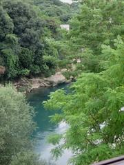 Vue sur la Neretva, maison ottomane (XVIIIe) Biščević-Lakšić,  Solacovića ulića, Mostar, Herzégovine-Neretva, Bosnie-Herzégovine.