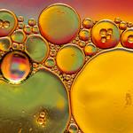 Macro shots of soap/oil/water/color bubbles