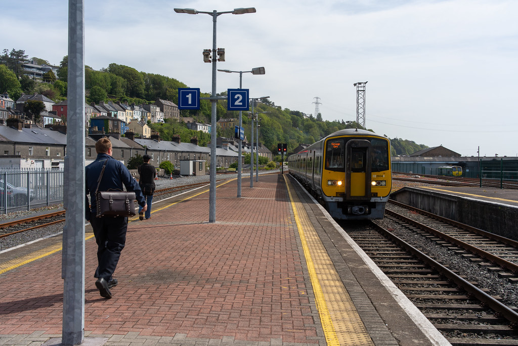 THERE IS A TRAIN EVERY HALF HOUR FROM KENT STATION TO COBH 005