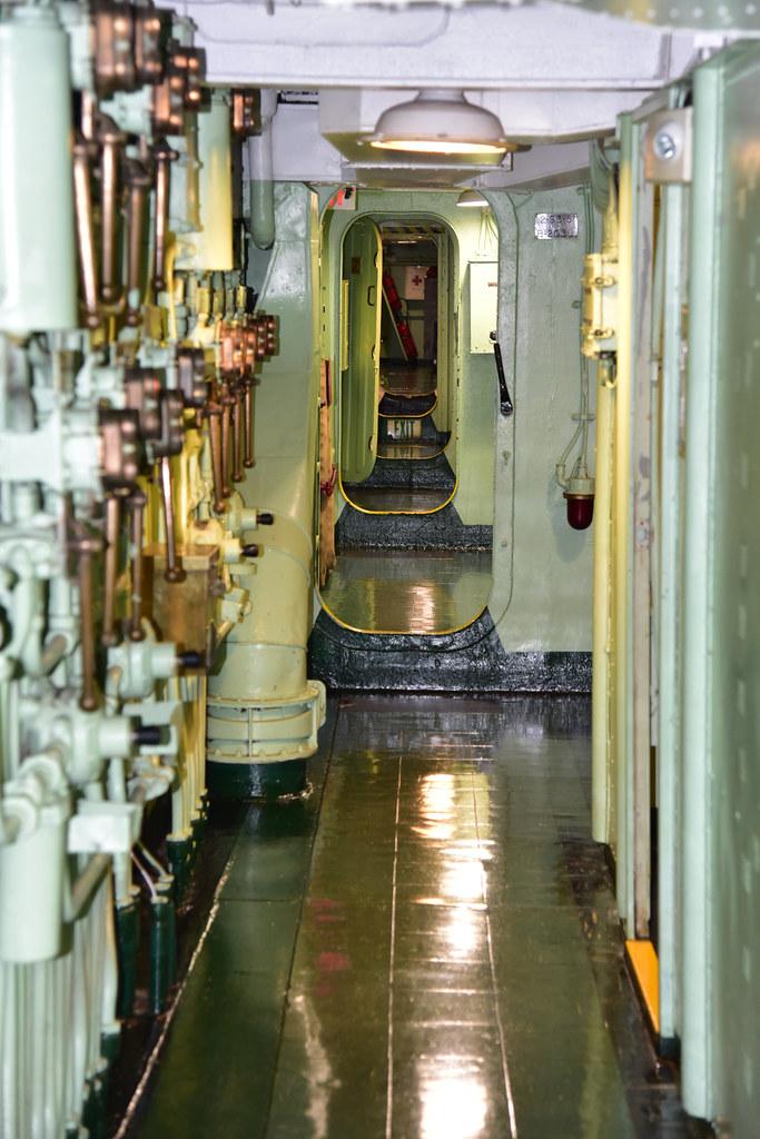 Second Deck Passage, USS Hornet