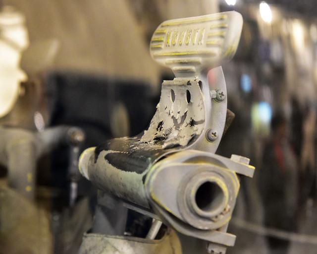 SH-3H: Agusta anti-torque pedal