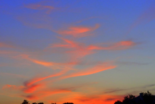 centraltexas hillcountry sky dusk sunset cloud atmosphere weather skyline treeline horizon