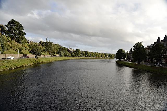 Ness river. Inverness Highlands. Scotland