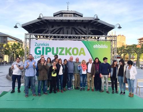 Mitín de EH Bildu en Irun dentro d ela campaña a las municipales