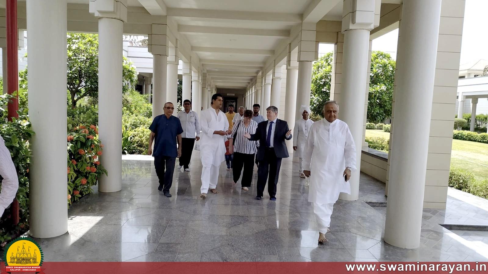 British Deputy High Commisioner visit to Swaminarayn Museum