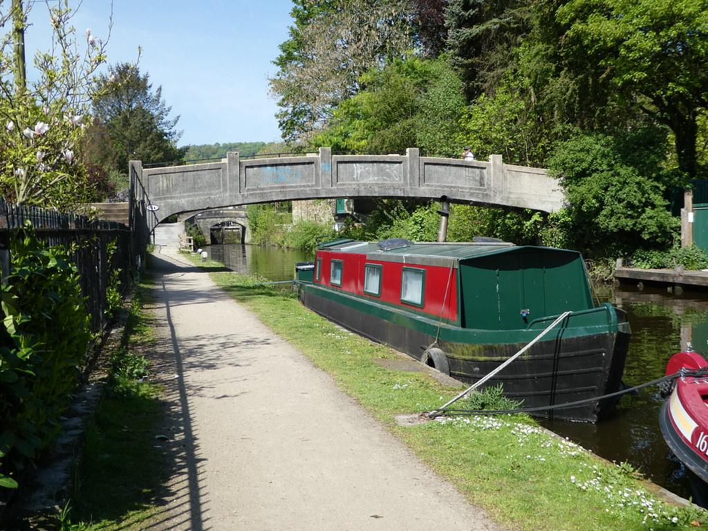 The Rochdale canal in Hebden Bridge