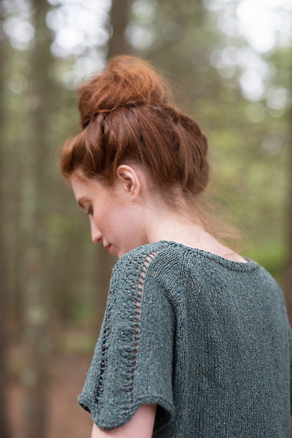 Simple lace panels on the sleeves of  Sachiko Burgin's Juniper Top