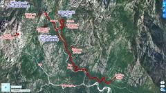 Photo aérienne 2D des secteurs des chemins du Carciara et de Paliri en Haut-Cavu