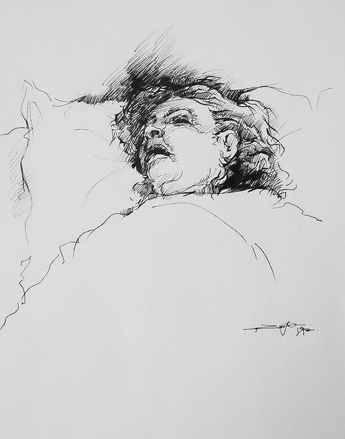 portrait of a sick woman
