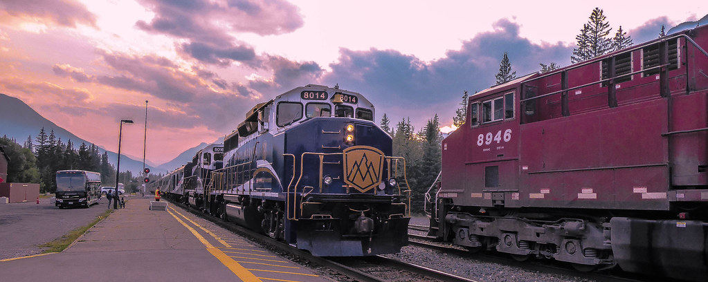 The Rocky Mountaineer's Arrival