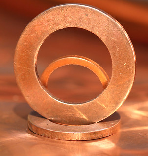 miniature classic automotive copper washers