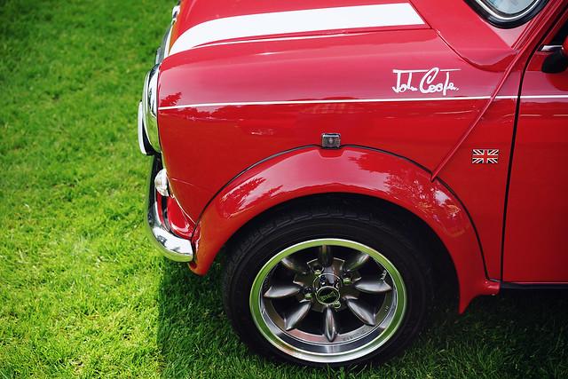 Mini Cooper in red