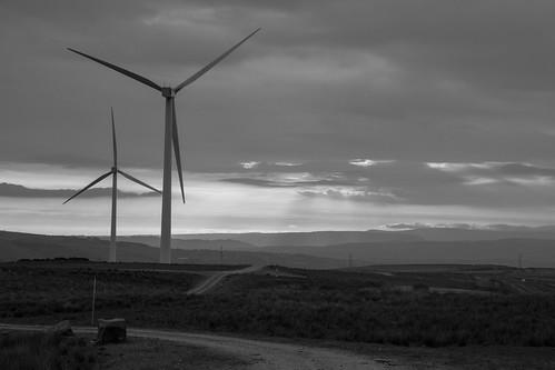 windfarm sunset clouds lancashire pennines blackandwhite monochrome
