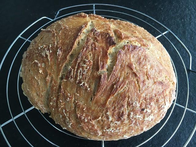 Home made fresh bread loaf