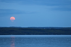 Moonrise over Cayuga Lake