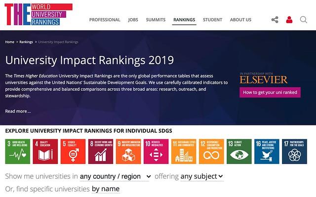 THE University Impact Ranking