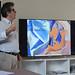 Yves-Michel Bernard lors d'un cours sur le Cubisme