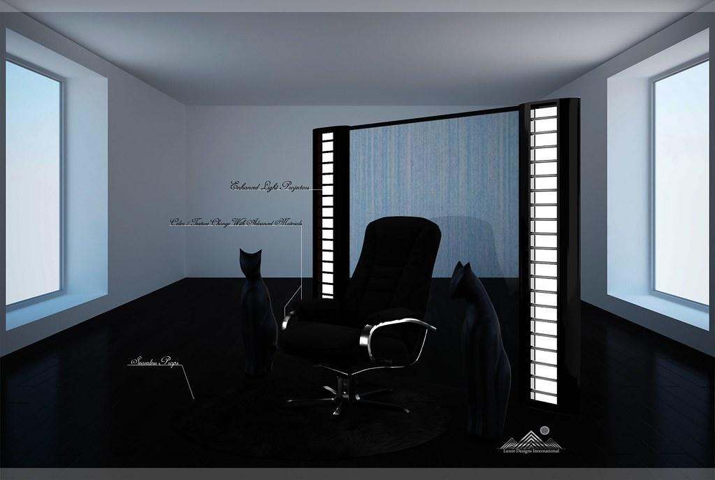 Midnight Seduction Designer Chair