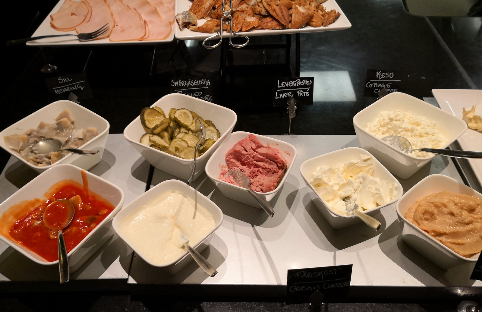 Swedish cold plate toppings