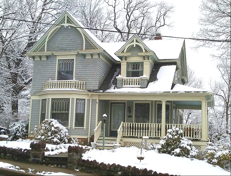 Classic Queen Anne After a March Snowfall