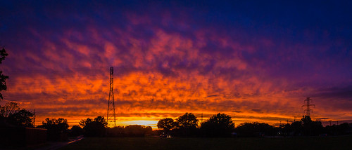 sunset colorful afterthestorm sky cloud sun powerlines tower pentax pentaxk7