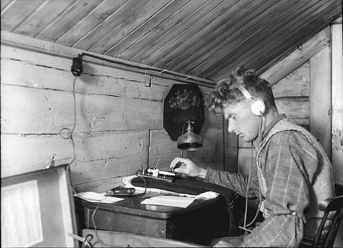 resistente utilizando radio en Noruega
