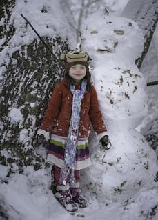 Amazing snow-tree-man