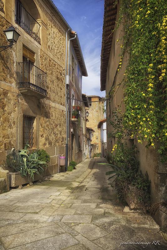 Calle de Cuacos de Yuste (Extremadura)