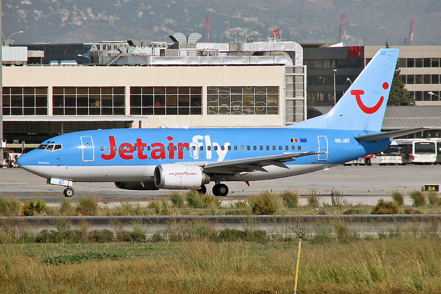 OO-JAT TUI Belgium Boeing-737-5K5 AGP 14-10-08