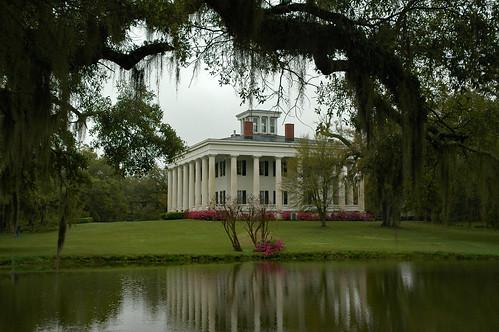 louisiana greenwood plantation antebellum 1830 williamruffinbarrow house greek revival architecture pond grounds