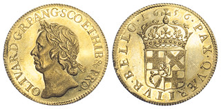 1656 Oliver Cromwell Gold Broad | by Numismatic Bibliomania Society