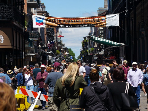 Royal Street during French Quarter Fest - 4.14.19. Photo by Louis Crispino.