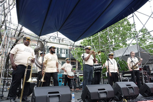 Leroy Jones Original Hurricane Brass Band at French Quarter Fest - 4.13.19. Photo by Keith Hill.