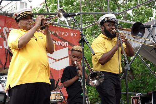 Treme Brass Band at French Quarter Fest - 4.13.19. Photo by Keith Hill.