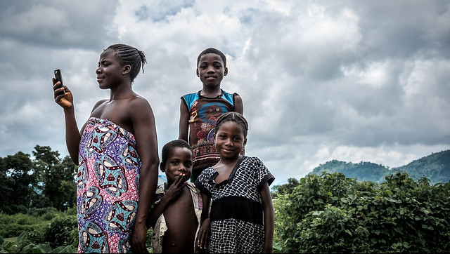 A mother and children in Nigeria