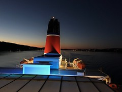 Ferry Chimney at Night