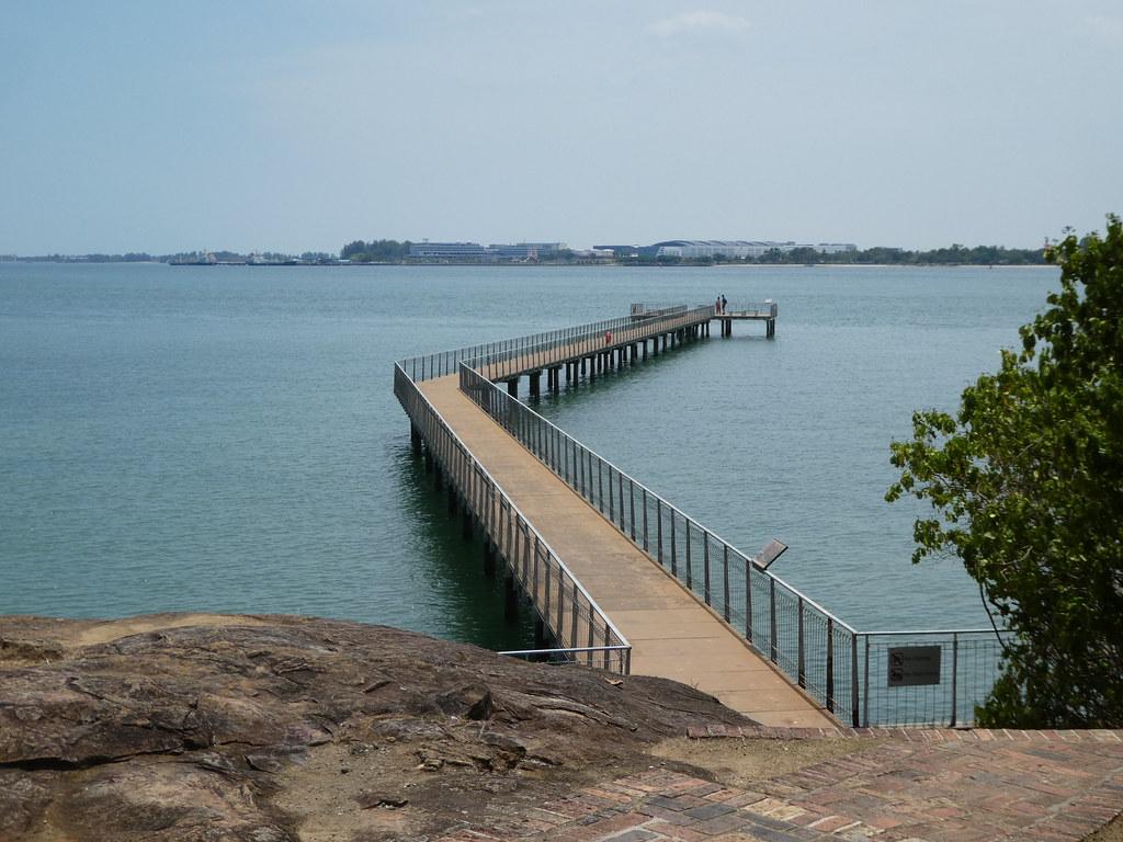 The Chek Jawa visitor centre jetty Pulau Ubin