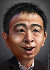 Andrew Yang - Caricature