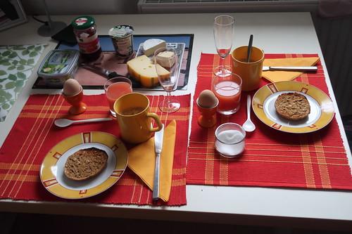 Sonntagsfrühstück bei einer Freundin in Berlin